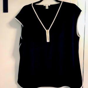 Calvin Klein XL Black/White Trim Gold Zipper